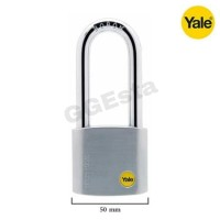 Gembok Padlock YALE Y120/50/163/1 High Security Silver Series ORIGINAL