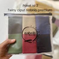 bandana rajut 2 in 1 / twotone / inner rajut