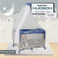 Baby Box Tidur Bayi Does Babydoes Hudson 3-in-1 Side Bed /Buka Samping - Blue Beige