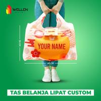 Foldable Shopping Bag Tas Belanja Lipat Jumbo Custom Print Water Proof