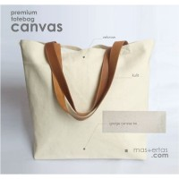 tote bag kanvas besar, tas belanja premium, greige canvas twill