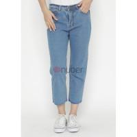 Celana Panjang Wanita Jeans Boyfriend Blue Non Stretch-Daisy
