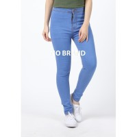 Celana Jeans Highwaist Panjang Skinny Wanita Blue - No Brand