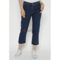 Celana Panjang Wanita Jeans Boyfriend Navy Non Stretch-Daisy