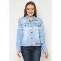Jaket Jeans Wanita Cewek jaket Bahan tipis Blue spray - no brand