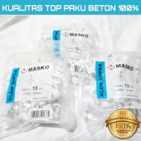 KLEM KABEL MASKO PAKU asli BETON 12MM putih No 12 mm PAKU SUPER