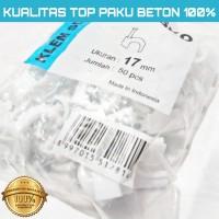 KLEM KABEL MASKO PAKU asli BETON 17MM putih No 17 mm PAKU SUPER