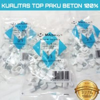 KLEM KABEL MASKO PAKU asli BETON 9MM putih No 9 mm PAKU SUPER
