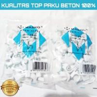 KLEM KABEL MASKO PAKU asli BETON 10MM putih No 10 mm KLEM TEBAL