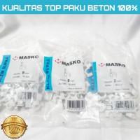 KLEM KABEL MASKO PAKU asli BETON 8MM putih No 8 mm PAKU SUPER
