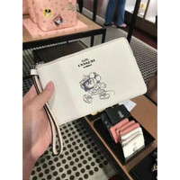 Coach disney wristlet zip corner