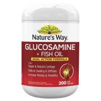 Natures Way Glucosamine + Fish Oil 200 Tablet Redakan Nyeri Sendi