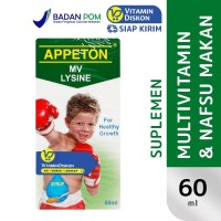 APPETON WITH LYSINE SYRUP MULTIVITAMIN 60 ML