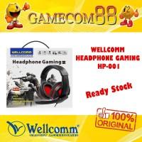 Wellcomm Headphone Headset Gaming HP 001 Single Jack + Mic