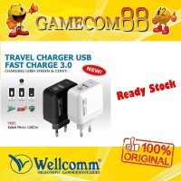 Wellcomm Travel Charger Fast Charger 3.0 - Original