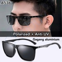 kacamata sunglasses polaroid pria original antisilau UV polarized A536