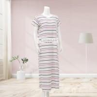 Lunaci Candy Lines Breastfeeding Dress Maxi