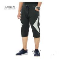 Celana Sepeda Trendy Raiden - DARK GREY WHITE, M