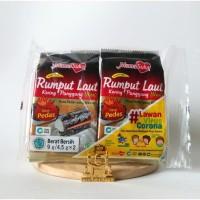 Mama Suka Rumput Laut Panggang Spicy 4,5g   Camilan Seaweed Nori Halal