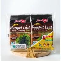 Mama Suka Rumput Laut Panggang BBQ 4,5g   Camilan Seaweed Nori Halal