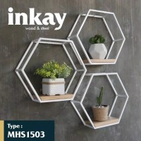 Rak Dinding Mini Hexagon Minimalis INKAY