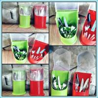 Tempat Rak Kotak Sendok dan Garpu Set Makan Plastik (R-CHS2020)