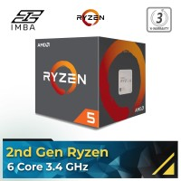 AMD RYZEN 5 2600 6 Core 3.4 GHz (3.9 GHz Max Boost) Socket AM4