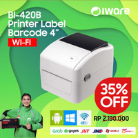 PRINTER BARCODE THERMAL / LABEL PRINTER XP-420B | BI-420B 110MM / A6 - WIFI