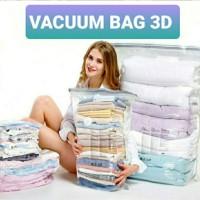 Kantong Vakum 3D Pakaian Selimut Bed Cover Transparan 3D Vacuum Bag
