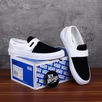 Sepatu Vans Slip On Pro 47 V Dx Fear Of God FOG White Black Putih