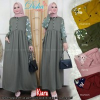 Kiara maxi dress bahan kaos busui friendly