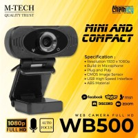 M-Tech WB500 1080p Full HD Webcam with Microphone