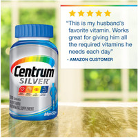 Centrum Silver Men 50+ Multivitamin / Multimineral, 200 Tablets