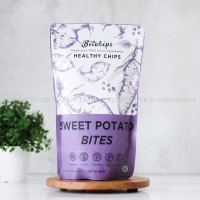 70G SWEET POTATO BITES KERIPIK UBI UNGU - BITCHIPS
