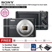SONY Cyber-shot DSC-W830 BLACK SanDisk16gb ScreenGuard Pouch tripod