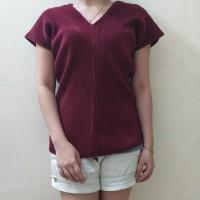 (H22) Baju Atasan Wanita Import/T Shirt Wanita Import Bahan Pleated