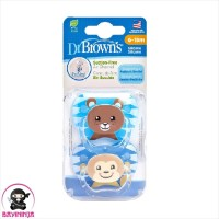 DR BROWNS Prevent Pacifier Soother Empeng Bayi 6 to 18 Bulan Boys