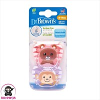 DR BROWNS Prevent Pacifier Soother Empeng Bayi 6 to 18 Bulan Girls