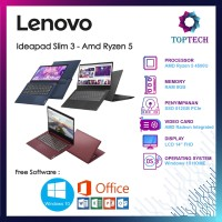 Lenovo Ideapad Slim 3 - Amd Ryzen 5 4500U 8GB 512ssd W10 FREE OFFICE