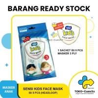 Masker sensi face mask 3ply kids anak motif isi 5 pcs
