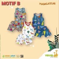 VELVET JUNIOR Setelan Kutung Singlet S M L XL XXL Baju Bayi ( 3-36bula
