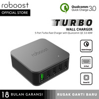 roboost 5 Port Qualcomm Quick Charge QC 3.0 Fast Charging Charger 40W