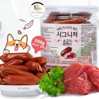 Korea Signature Beef Sausage -Pet Dog Snack Treat Cemilan Anjing Hewan