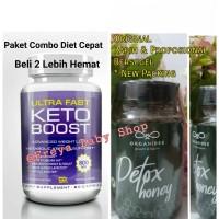 Paket Pelangsing Combo Diet Keto vs Organibee Detox Honey Lemak Bandel