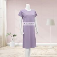 Lunaci Paisley Purple Breastfeeding Dress