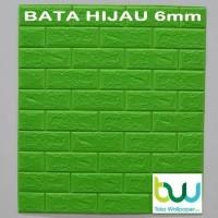 Wallpaper Dinding 3D Bata 77cm x 70cm Brick Foam - PINK dan HITAM