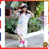 Daster Anak Perempuan Hello Kitty Dress Anak Perempuan Cantik Printing