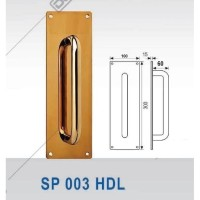 SIGN PLATE DEKKSON SP 003 HDL PVD Handle Plat Tarikan Pintu Gold
