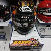 Helm fullface Arai RX7X Pedrosa SPIRIT Samurai Gold DOT M L XL Japan