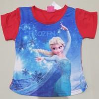 Kaos Anak Motif Frozen 2 - 3 Tahun Bagus Dan Murah Elsa